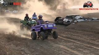 Mini Monster Trucks ATV Racing At Monster Truck Shootout At Imlay Fair