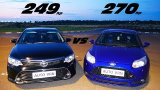 CAMRY 3.5 vs FORD FOCUS 3 ST. ГОНКА !!!