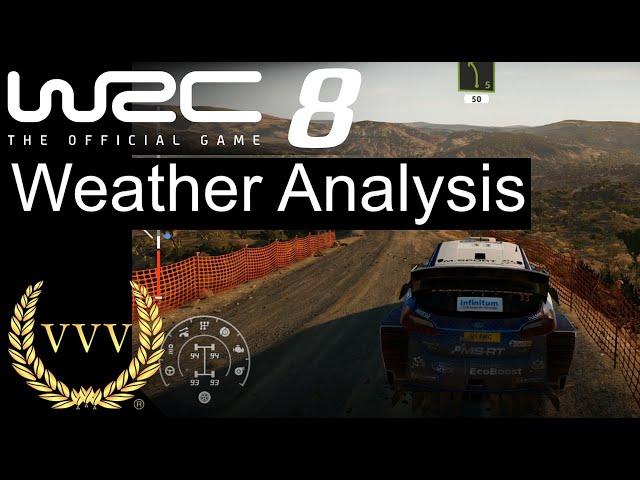 WRC 8 - Weather Analysis