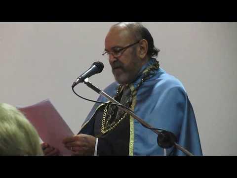 Roberto Lima faz seu discurso de posse como novo membro da Academia Norte-Riograndense de Letras