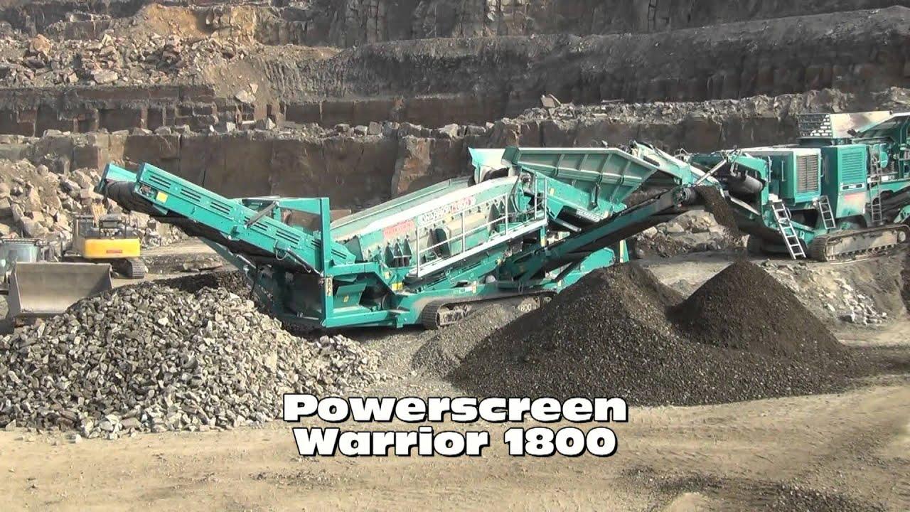 Powerscreen XA400s Jaw Crusher feeding a Powerscreen Warrior 1800 at MA  Crushing