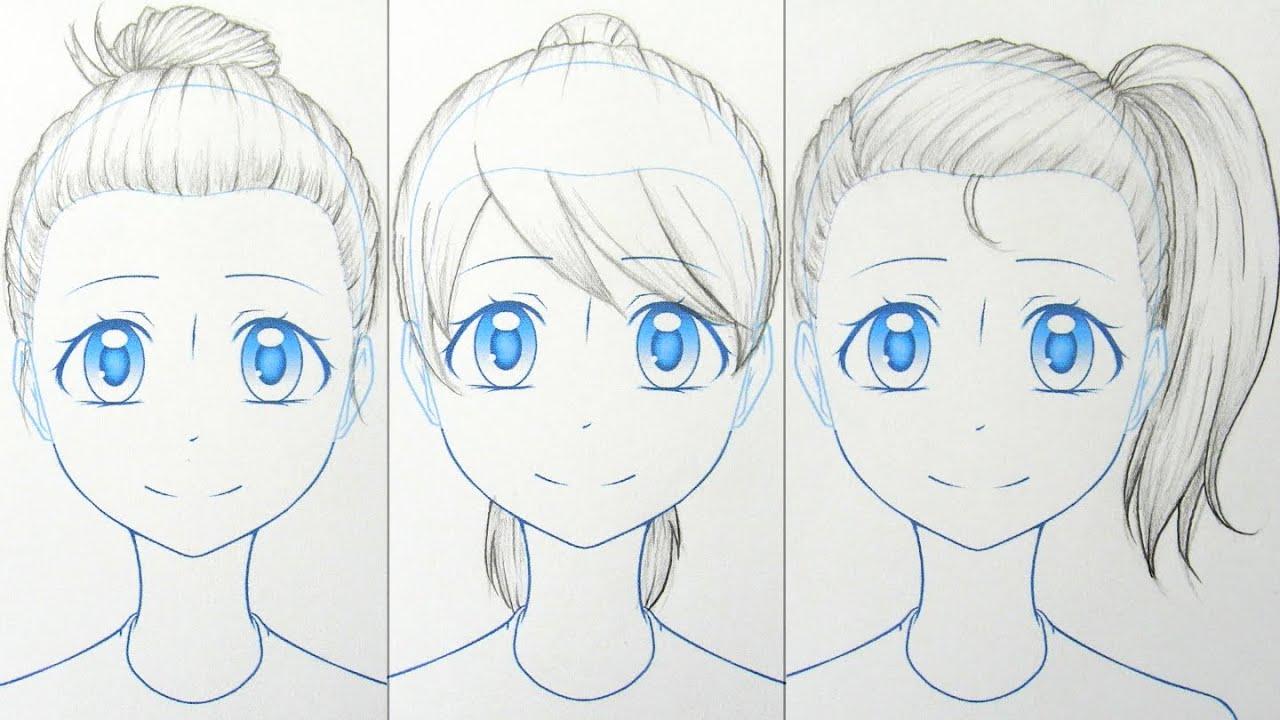 How To Draw Manga: Up Hairstyles 3 Ways