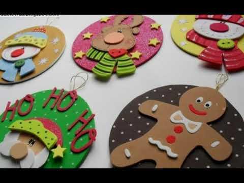 Decoracion de navidad en foami youtube - Adornos navidenos en ingles ...