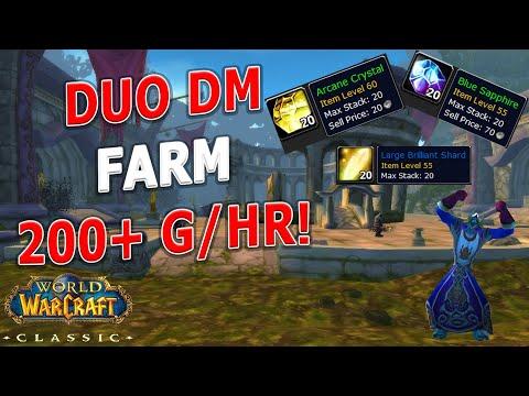 WoW Classic - DM East Duo Gold Farm! Mage + Ranged - 200g+/hr