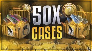 OPENING 50 CLUTCH CASES! (NEW CSGO CASE)