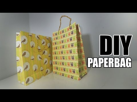 DIY - Cara Membuat Tas Kertas / Paper bag Menggunakan Kertas Kado
