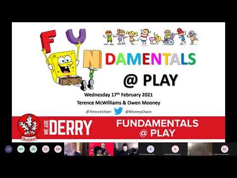 Derry GAA Nursery Webinar: FUNdamentals @ Play  with Terence McWilliams & Owen Mooney 17.02.21