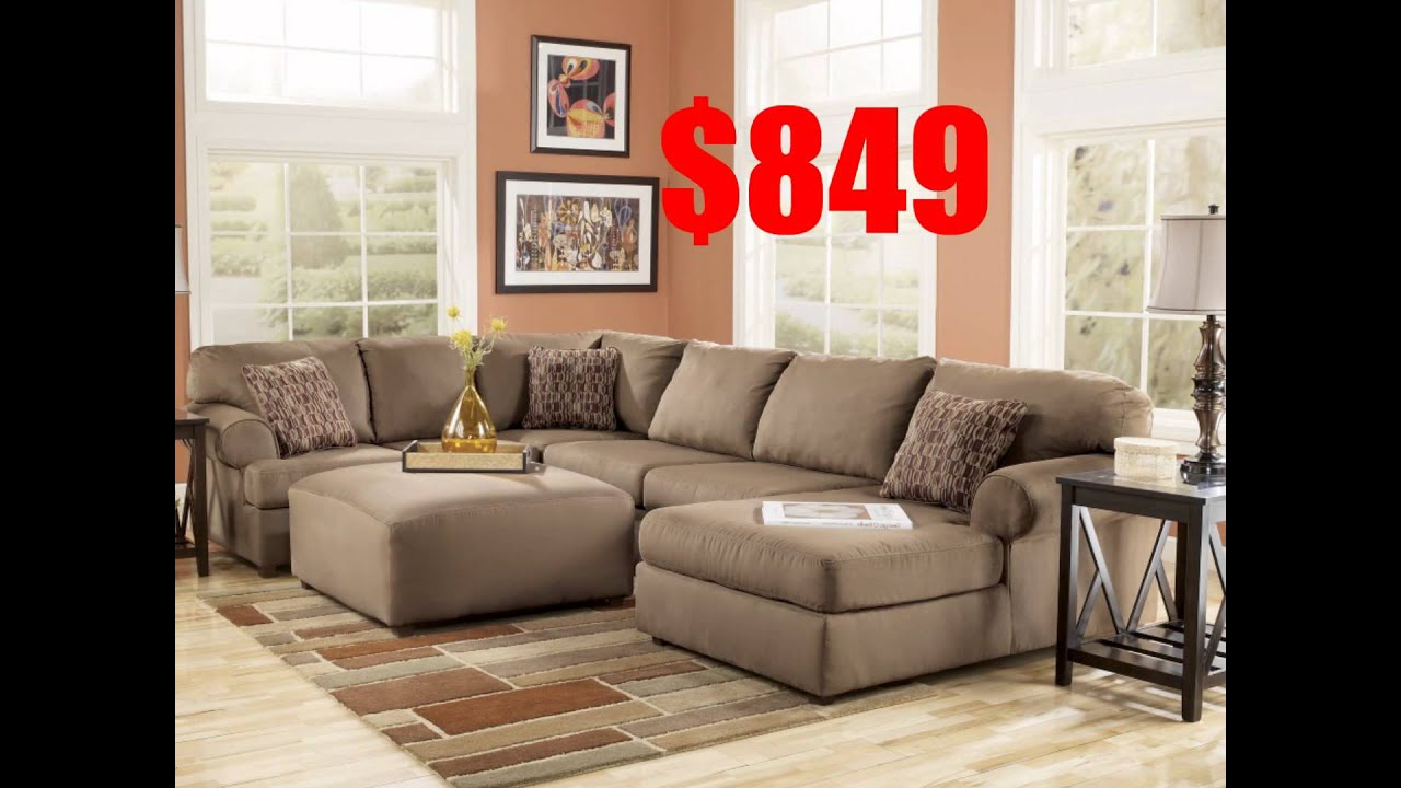 Ashley Furniture Morandi Mocha Sofa Cb2 Covers Brody Sectional Youtube