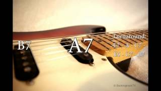 Blues Shuffle Guitar Backing Track in E