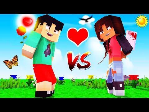 Minecraft - GIRLS VS BOYS