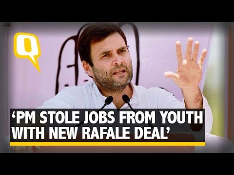 Modi Stole B'luru Youth's Jobs With New Rafale Deal - Rahul Gandhi | The Quint