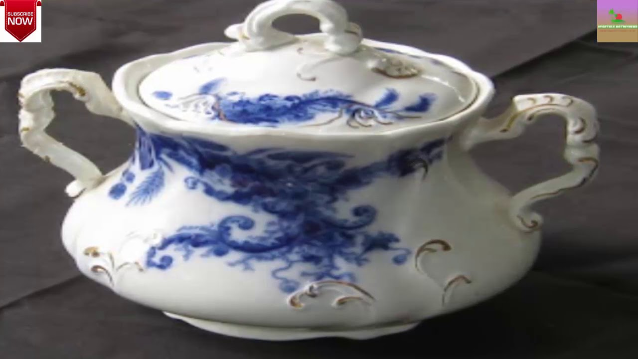 Flow Blue: History and Value of Blue-and-White Antique China - YouTube