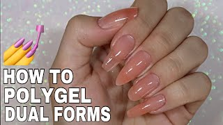 HOW TO: DUAL FORMS with POLYGEL | Madam Glam |ISABELMAYNAILS