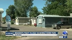 Residents fight to stay in mobile home park