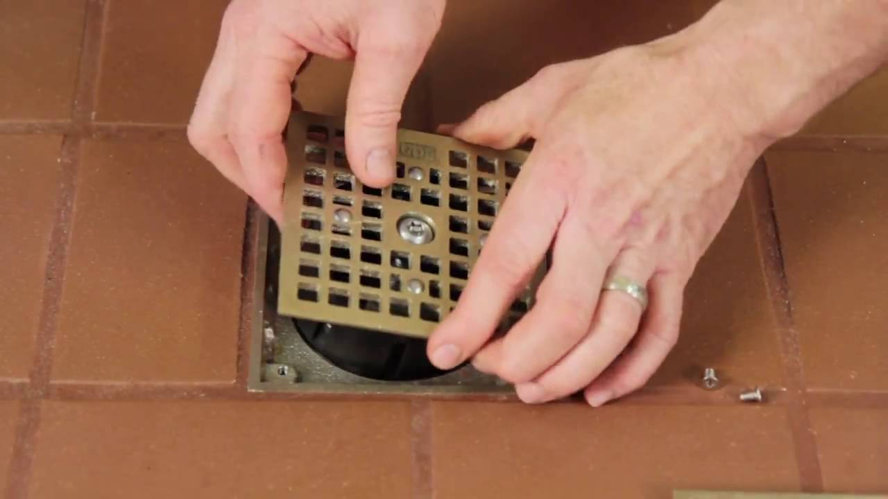 How To Replace A Floor Drain Cover With A Drain Lock Youtube