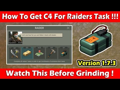 How To Get C4 For Raiders Task (1.7.3)! Last Day On Earth Survival