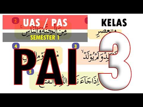 Latihan Soal UAS PAS PAI BP Kelas 3 SD Kurikulum 2013 Semester 1 (Ganjil) dan Kunci Jawaban