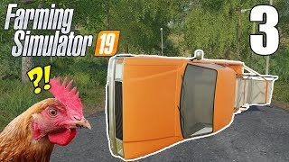 Farmer Rolls Truck and Blocks Road! - Farming Simulator 19 Gameplay - Part 3
