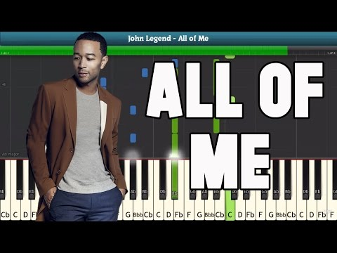 All Of Me Piano Tutorial - Free Sheet Music (John Legend)