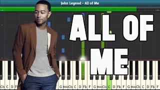 All Of Me Piano Tutorial - Free Sheet Music (John Legend)