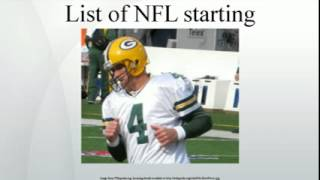 List of NFL starting quarterbacks