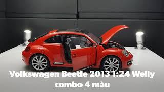 Combo 4 màu Volkswagen Beetle 2013 1:24 Welly