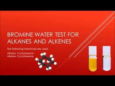 Bromine Water Test For Alkanes And Alkenes