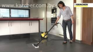 Уборка пароочистителем Karcher - видео-обзор пароочистителя Karcher в действии