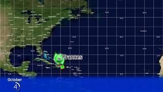 1961 Atlantic Hurricane Season Animation (Version 2)