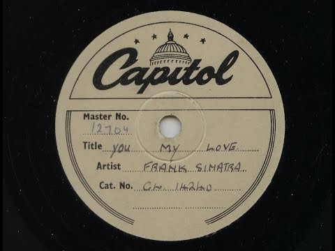 Frank Sinatra 'You My Love' 1954 Single Sided Demo 78 rpm mp3