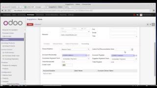 Supplier Creation in Odoo / OpenERP