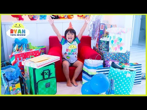 Ryan's 7th Birthday Party Opening Presents!!! Roblox, Minecraft, Nerf Toys And More!!!