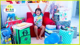 Ryan& 39 s 7th Birthday Party Opening Presents Roblox Minecraft Nerf toys and more