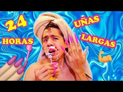24 HORAS con UÑAS extremadamente LARGAS versión HOMBRE challenge ! | Palomitas Flow