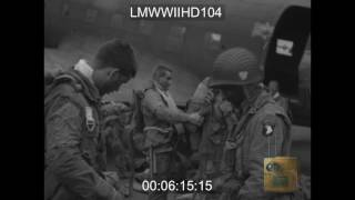 INVASION - PREPARATIONS FOR D-DAY, JUNE 5 44 PARATROOPERS PREPARE AND LEAVE FOR INVASI - LMWWIIHD104