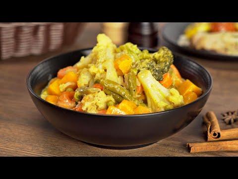 Овощное рагу карри - очень вкусно, сытно и легко! Рецепт от Всегда Вкусно!