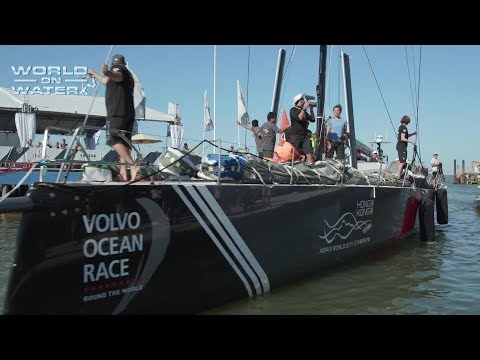 Sun Hung Kai/Scallywag Arrives in Itajai Brazil for the Start Leg 8 Volvo Ocean Race to Newport R.I.