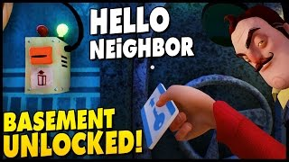 Hello Neighbor ALPHA 2 ENDING & SHOOTING THE NEIGHBOR! Unlocking The Basement Gameplay