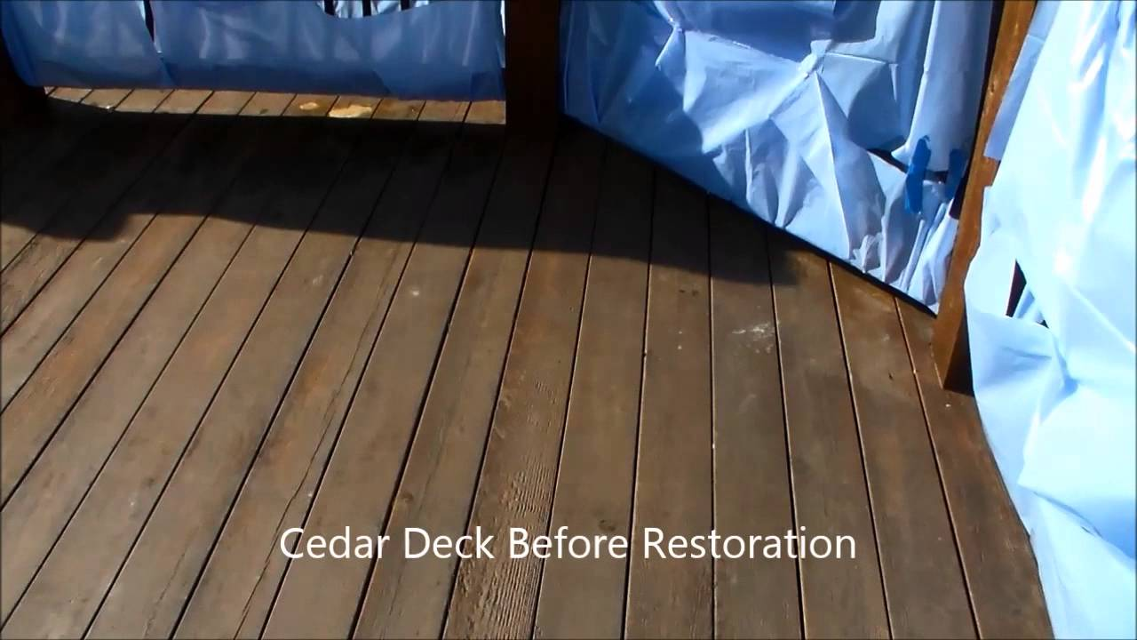 How to clean a deck before after youtube how to clean a deck before after baanklon Images
