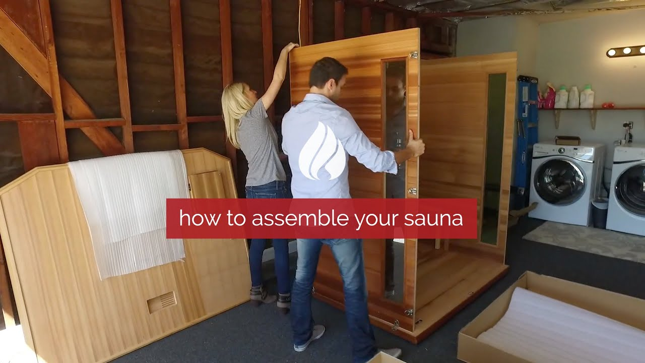 how to assemble your infrared sauna youtube