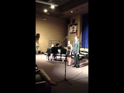Shannon Rafferty and Mike Galvin singing Panis Angelicus
