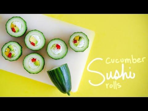 Tuna and Cucumber Sushi