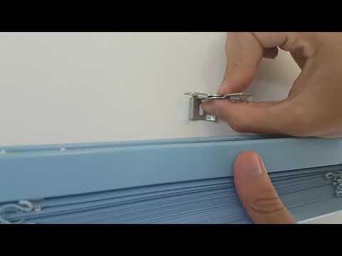 Como instalar uma persiana horizontal de alumínio 25mm