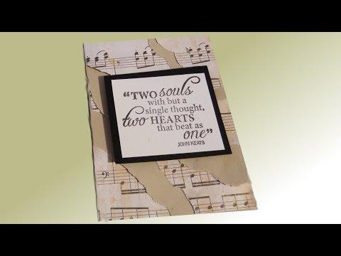Music Note Wedding Card