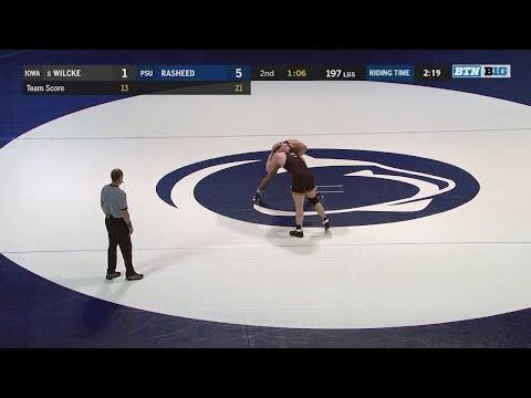 Big Ten Wrestling: 197 LBs: Iowa's Cash Wilcke vs. Penn State's Shakur Rasheed