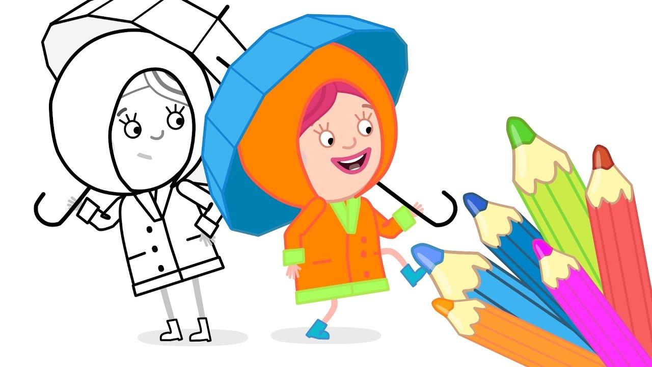 Смарта и чудо сумка - Раскраски: Дождевик - мультики для ...