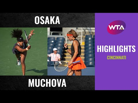 Naomi Osaka vs. Karolina Muchova | 2020 Cincinnati Second Round | WTA Highlights