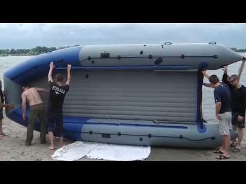Аквилон (Aquilon) - надувная моторная лодка ПВХ с дном низкого давления (НДНД) 095