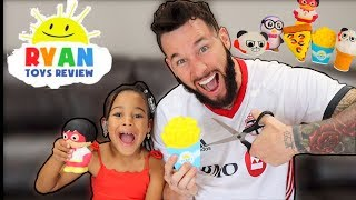 Cutting Open RYAN'S WORLD Toys | FamousTubeKIDS
