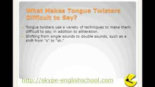 Learning English - Pronounciation - tongue twisters